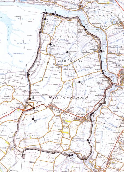 Verbandsgebiet der Sielacht Rheiderland